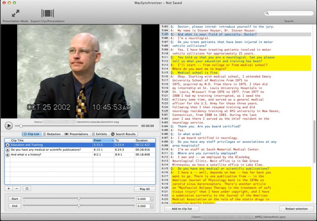 Synchronizer for Mac OS X